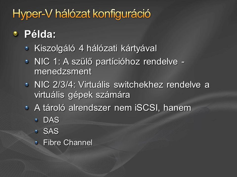 Hyper-V hálózat konfiguráció
