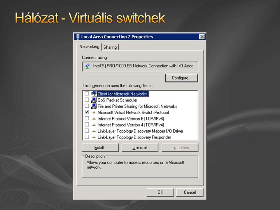 Hálózat - Virtuális switchek