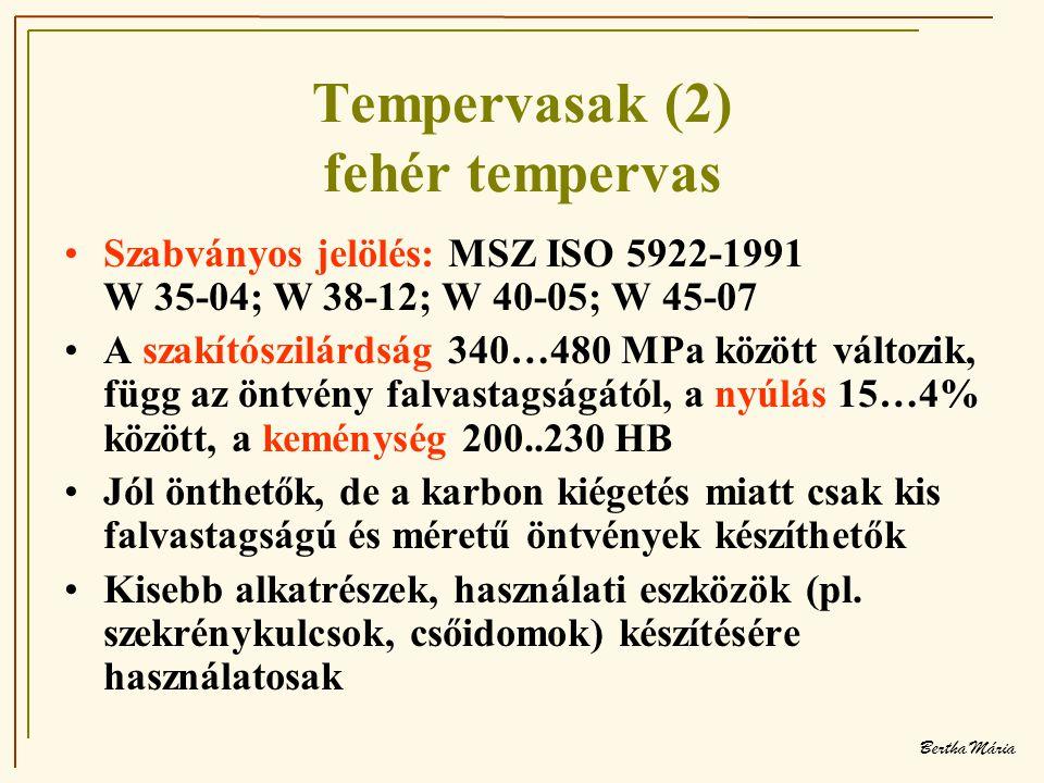 Tempervasak (2) fehér tempervas