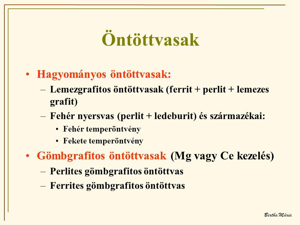 Öntöttvasak Hagyományos öntöttvasak: