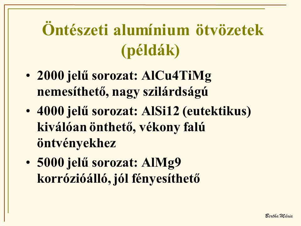 Öntészeti alumínium ötvözetek (példák)