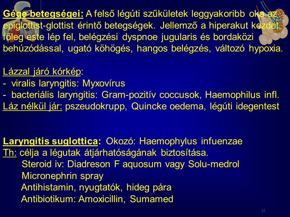 - viralis laryngitis: Myxovírus
