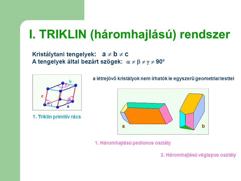 I. TRIKLIN (háromhajlású) rendszer