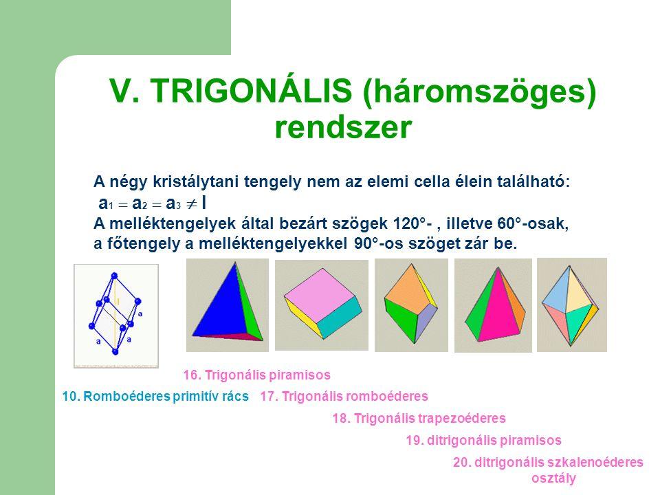 V. TRIGONÁLIS (háromszöges) rendszer