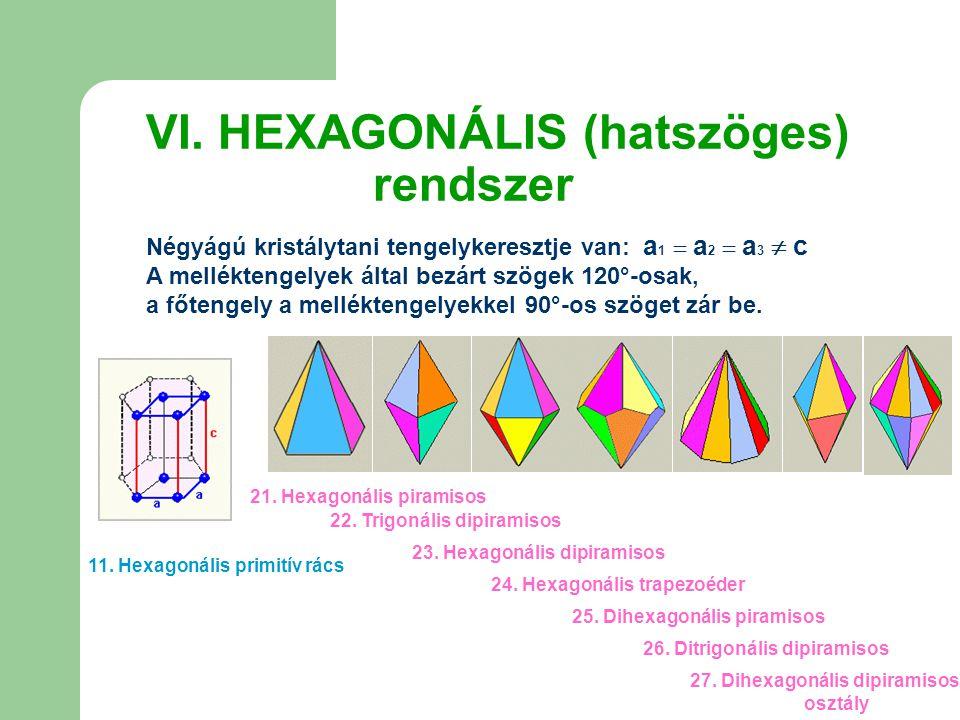 VI. HEXAGONÁLIS (hatszöges) rendszer