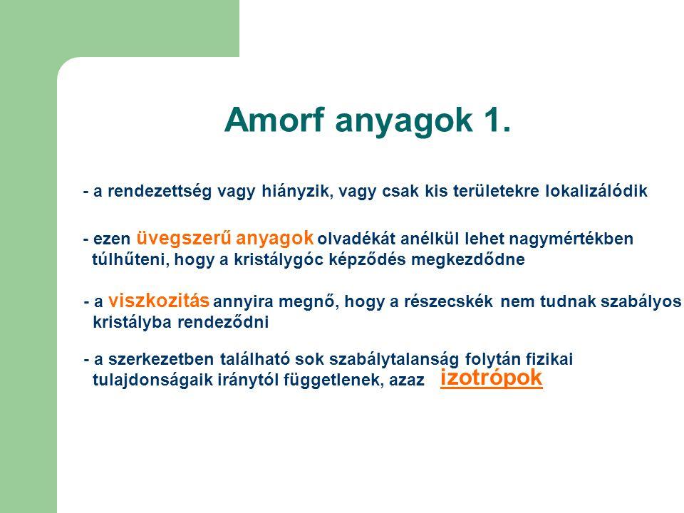 Amorf anyagok 1. izotrópok