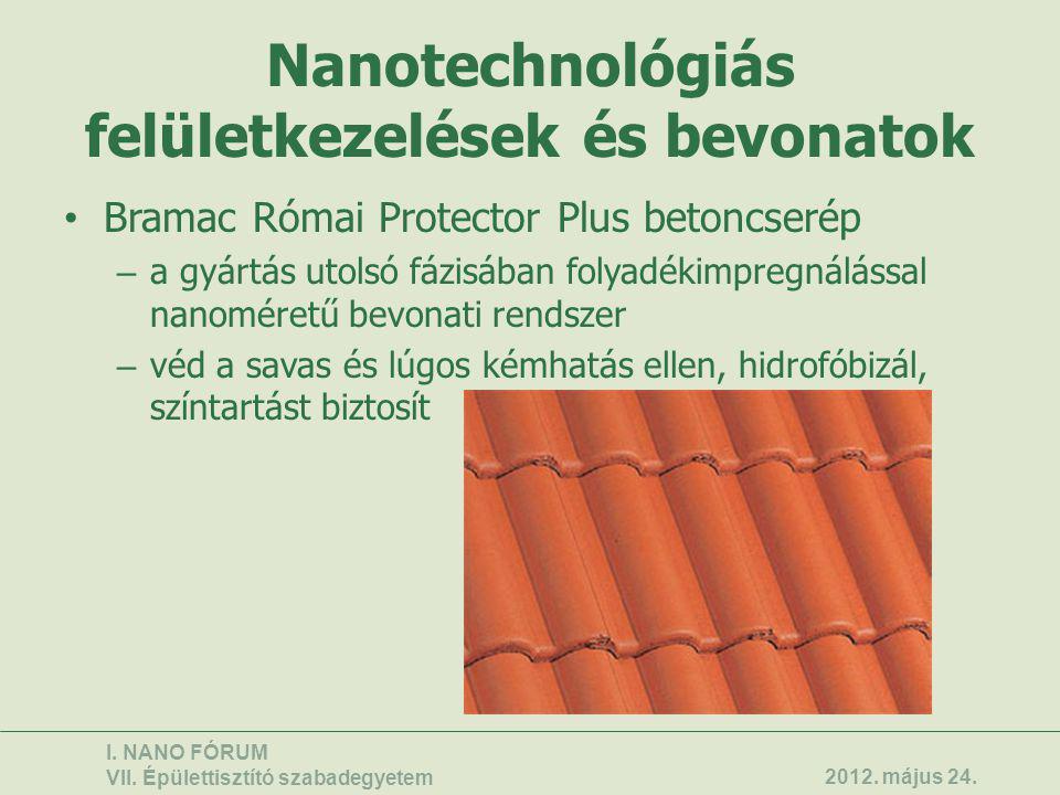 Nanotechnológiás felületkezelések és bevonatok