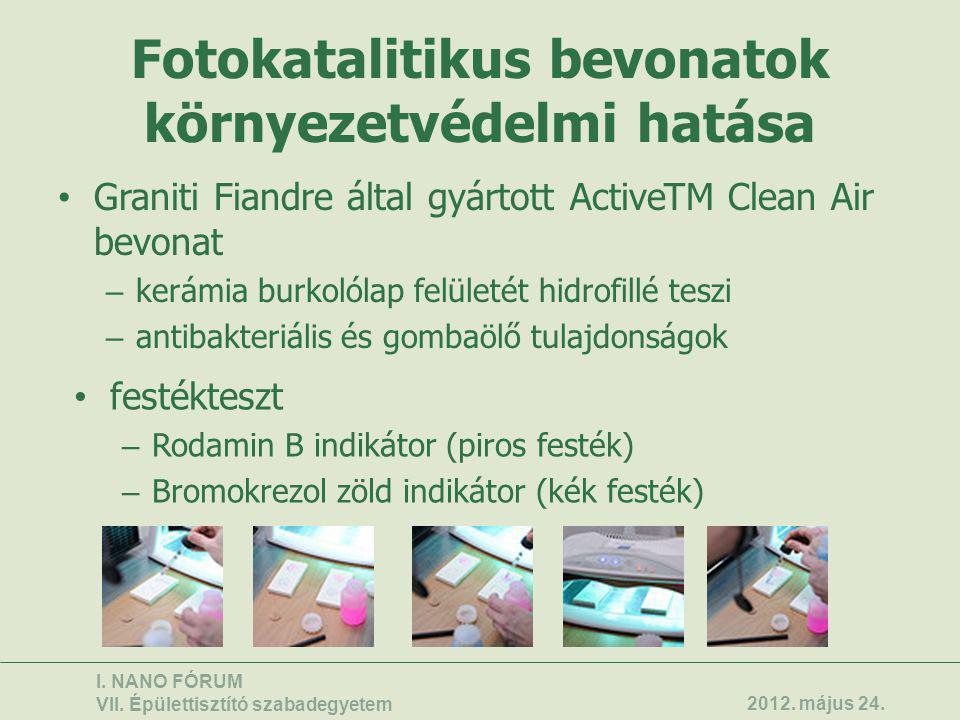 Fotokatalitikus bevonatok környezetvédelmi hatása
