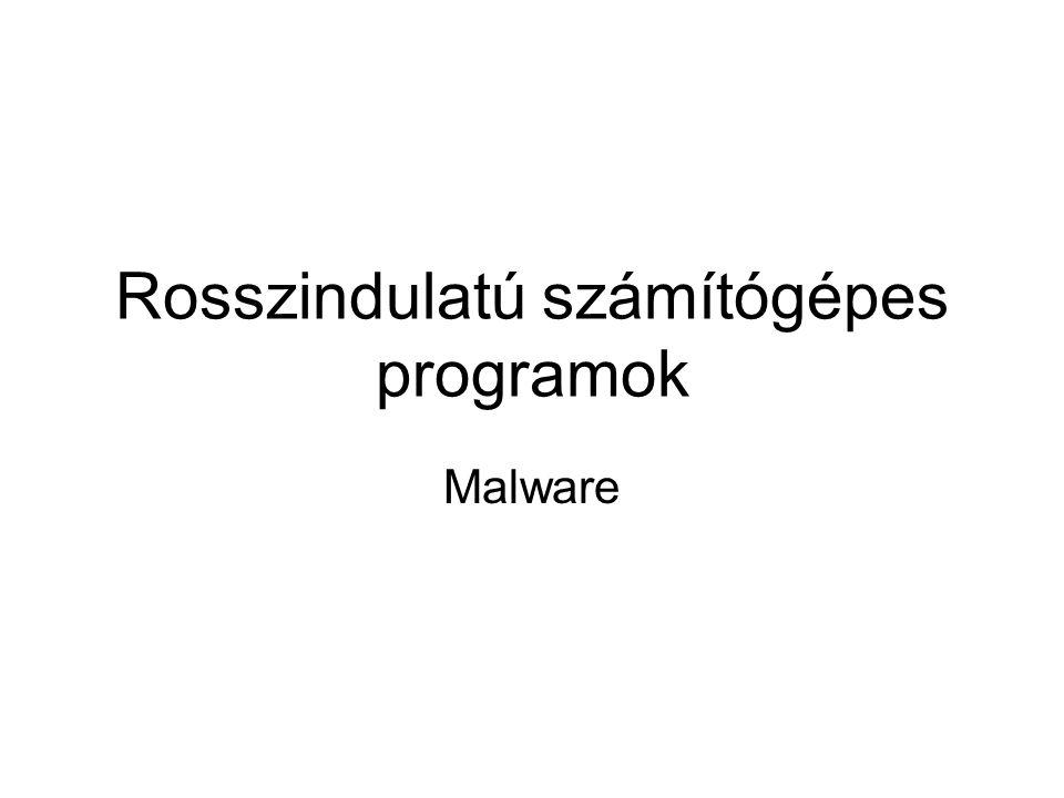 Rosszindulatú számítógépes programok