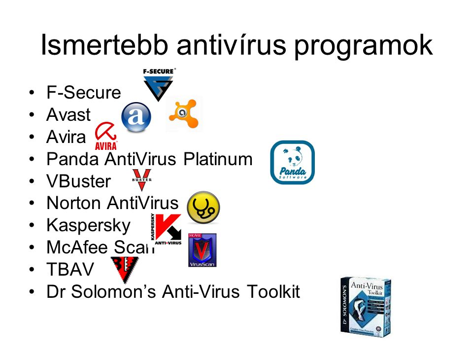 Ismertebb antivírus programok