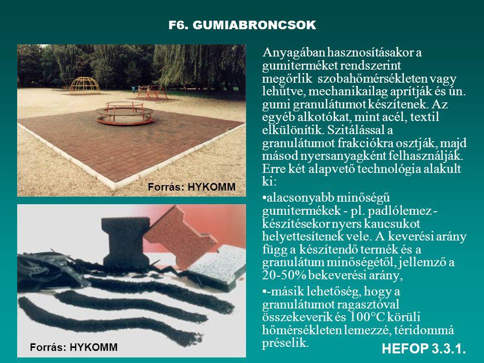 F6. GUMIABRONCSOK