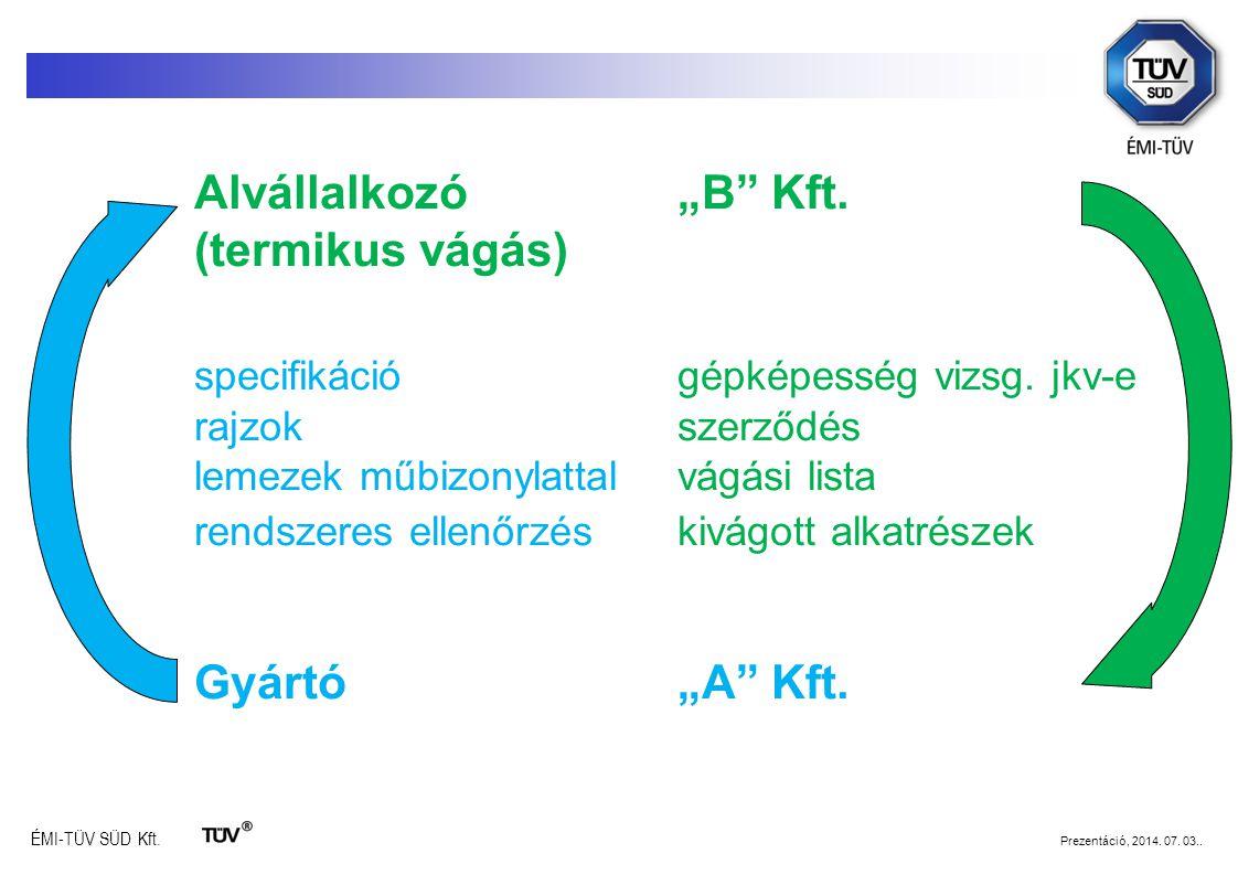 specifikáció gépképesség vizsg. jkv-e
