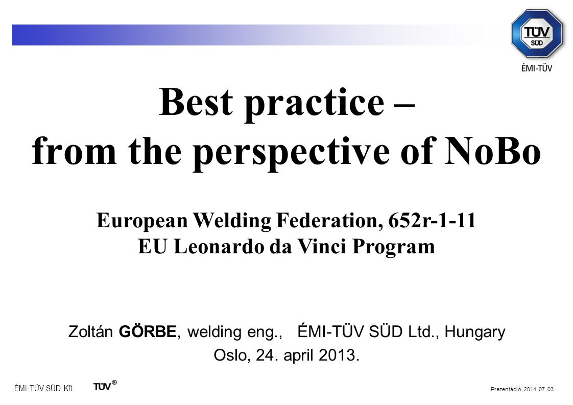 Best practice – from the perspective of NoBo