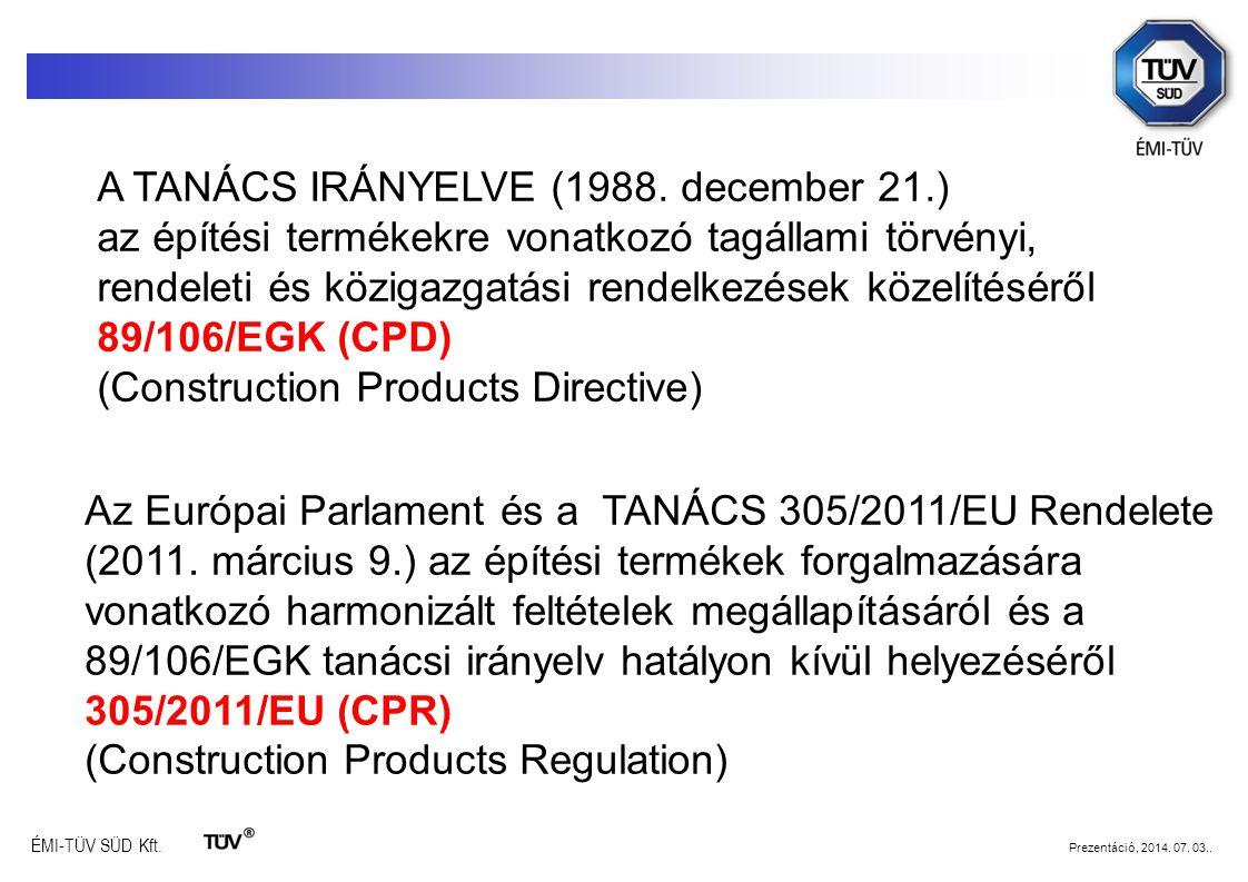 A TANÁCS IRÁNYELVE (1988. december 21.)