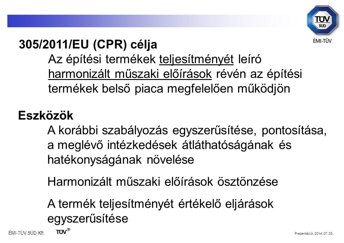 305/2011/EU (CPR) célja