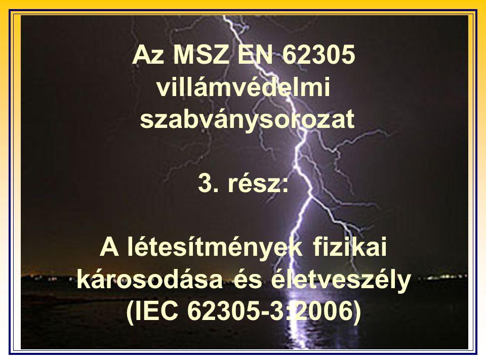 Az MSZ EN 62305 villámvédelmi szabványsorozat 3