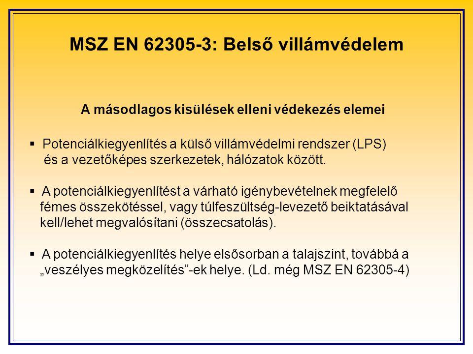 MSZ EN 62305-3: Belső villámvédelem