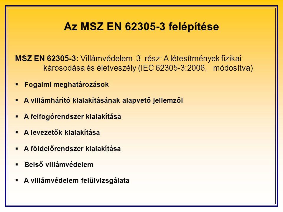 Az MSZ EN 62305-3 felépítése