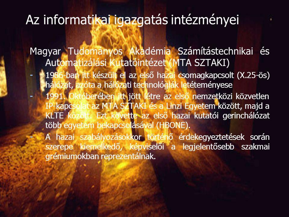 Az informatikai igazgatás intézményei