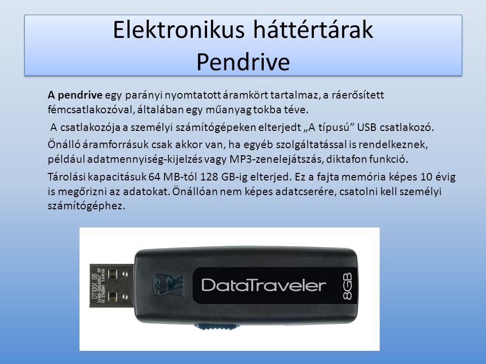Elektronikus háttértárak Pendrive