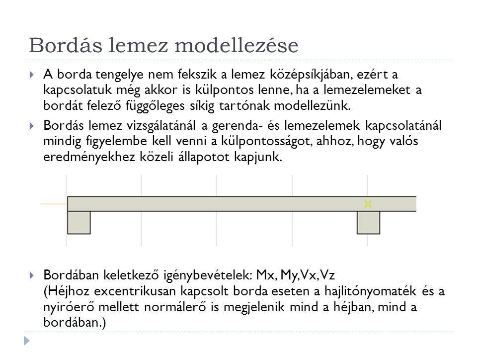 Bordás lemez modellezése