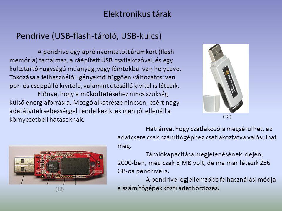 Pendrive (USB-flash-tároló, USB-kulcs)