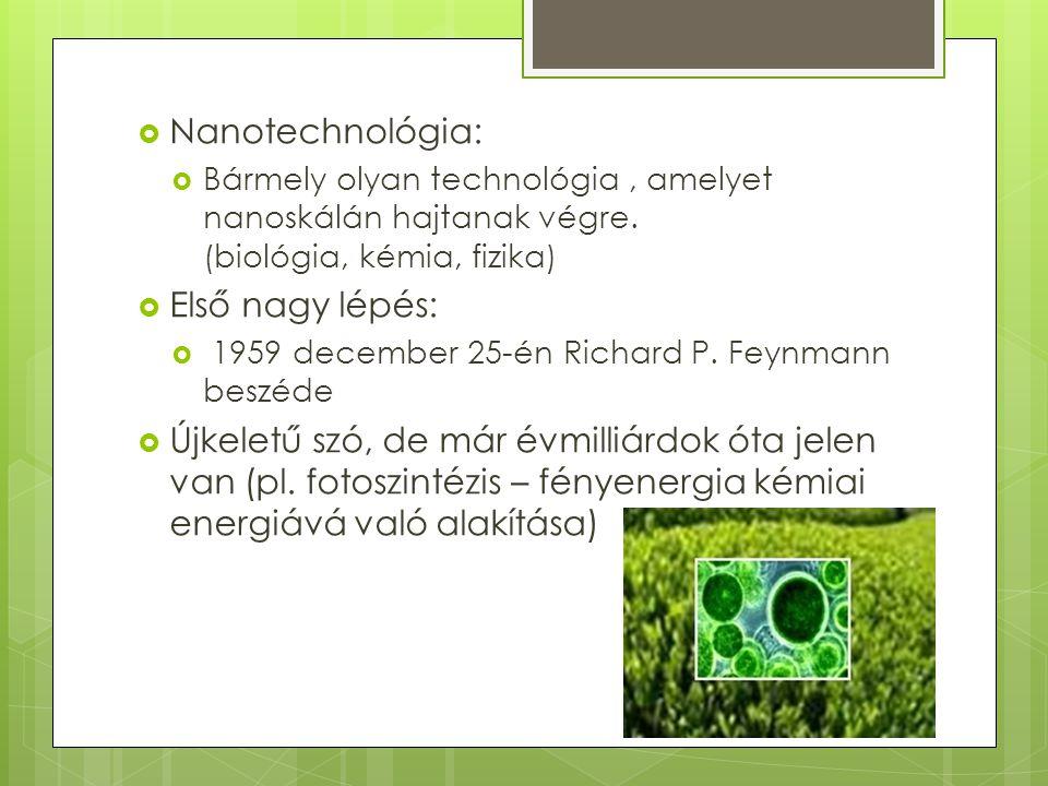 Nanotechnológia: Első nagy lépés: