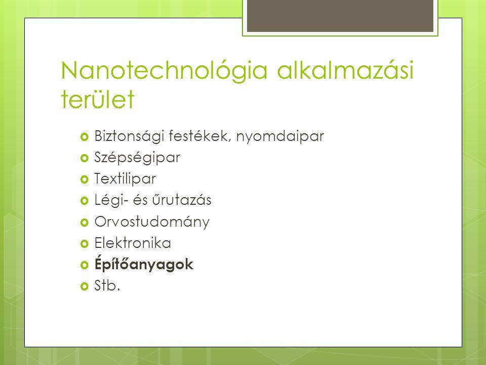 Nanotechnológia alkalmazási terület