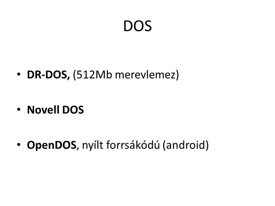 DOS DR-DOS, (512Mb merevlemez) Novell DOS