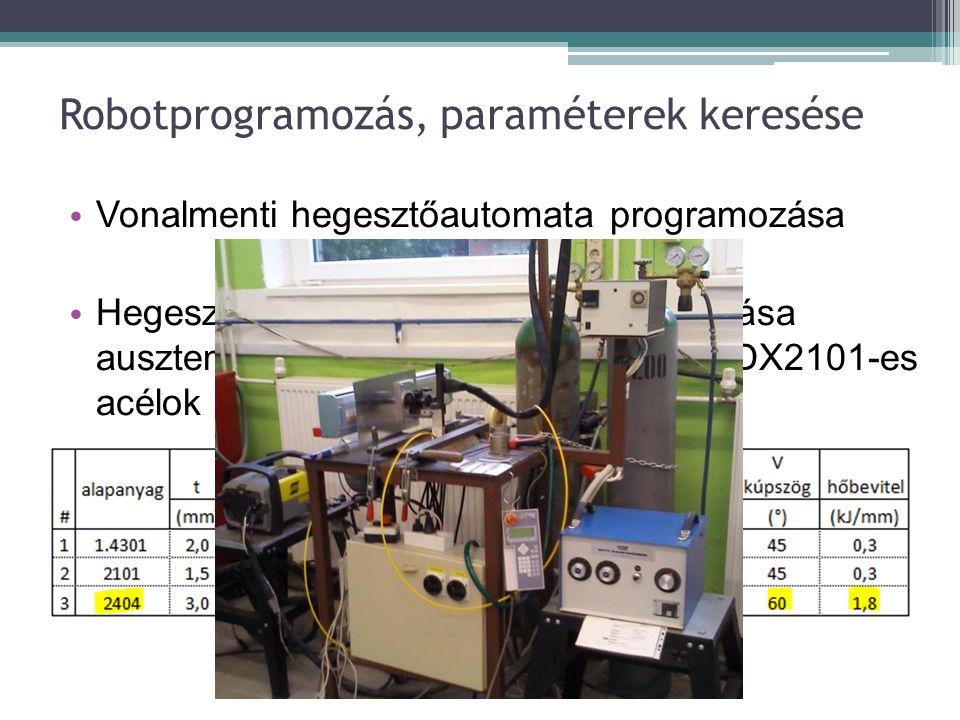 Robotprogramozás, paraméterek keresése