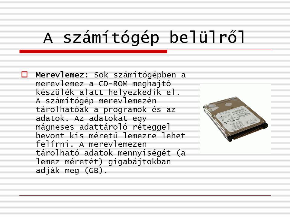 A számítógép belülről
