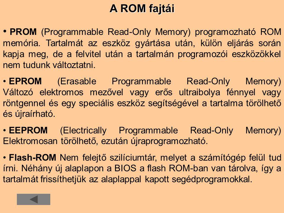 A ROM fajtái