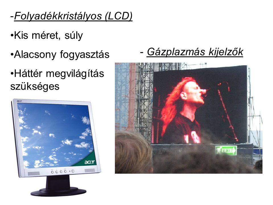 Folyadékkristályos (LCD)