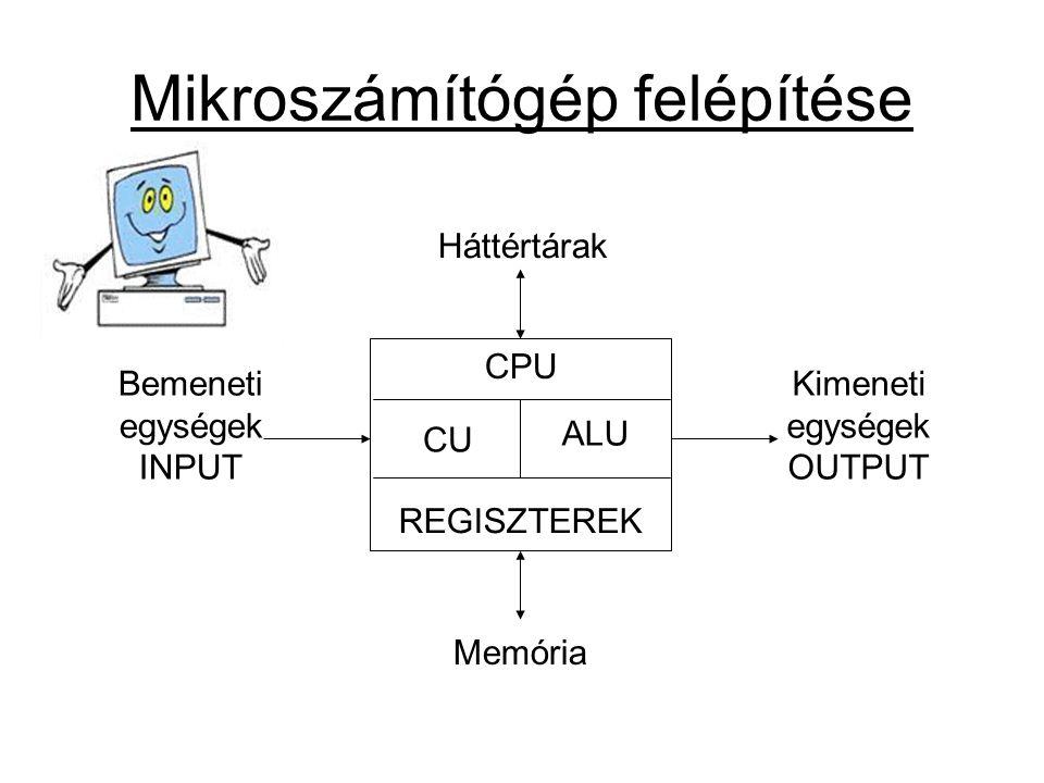 Mikroszámítógép felépítése