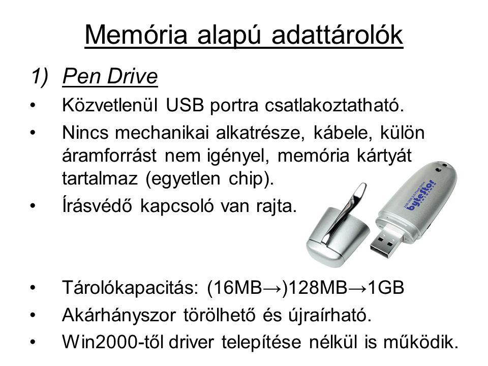 Memória alapú adattárolók