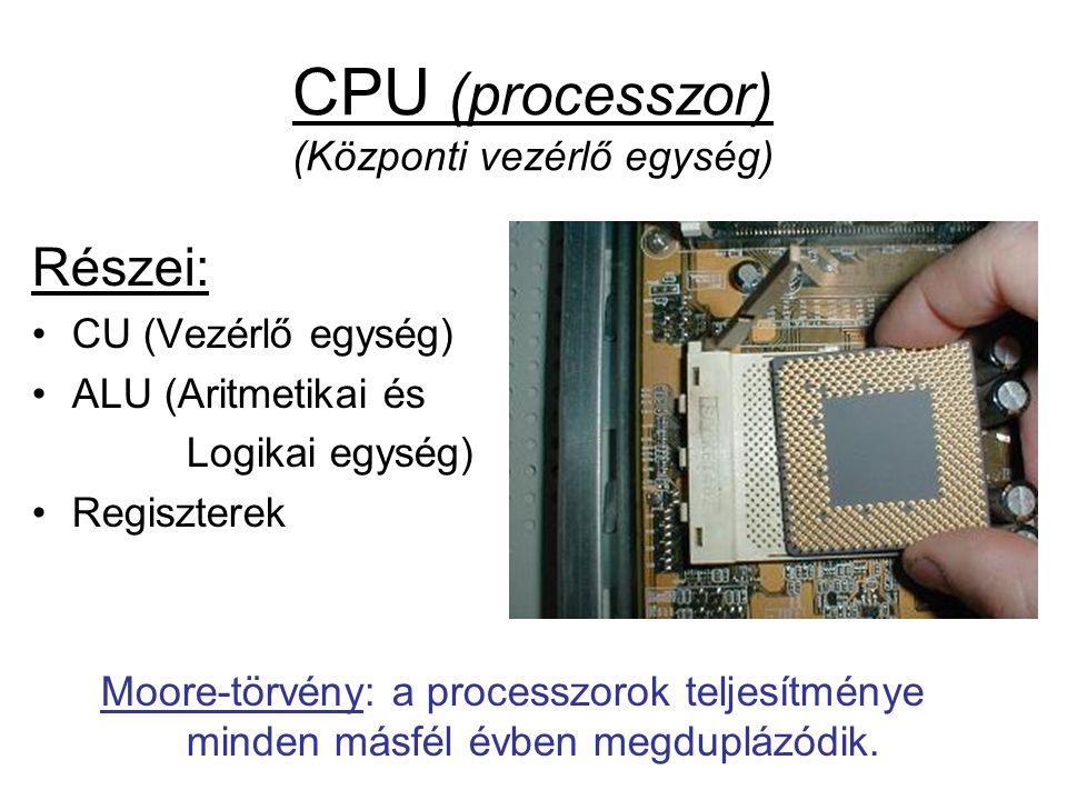 CPU (processzor) (Központi vezérlő egység)