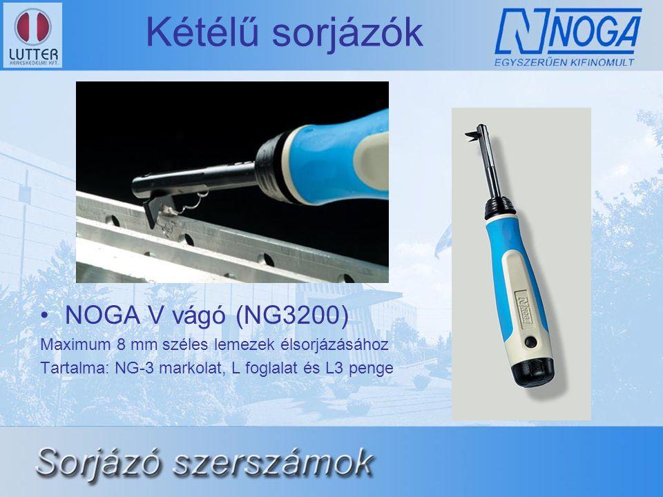 Kétélű sorjázók NOGA V vágó (NG3200)