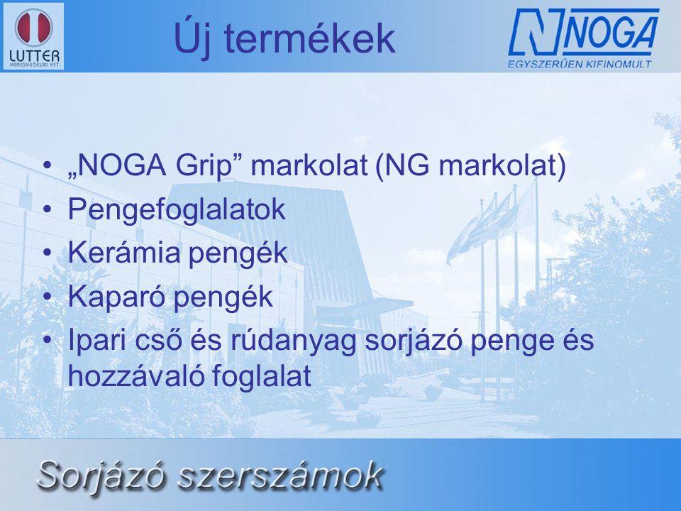 """Új termékek """"NOGA Grip markolat (NG markolat) Pengefoglalatok"""