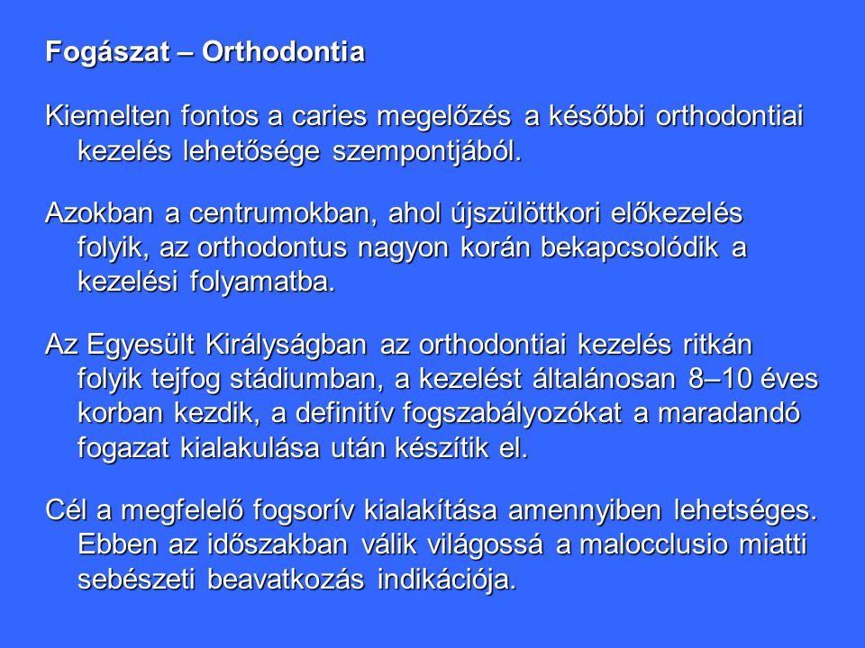 Fogászat – Orthodontia