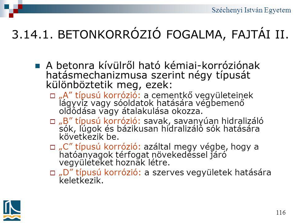 3.14.1. BETONKORRÓZIÓ FOGALMA, FAJTÁI II.