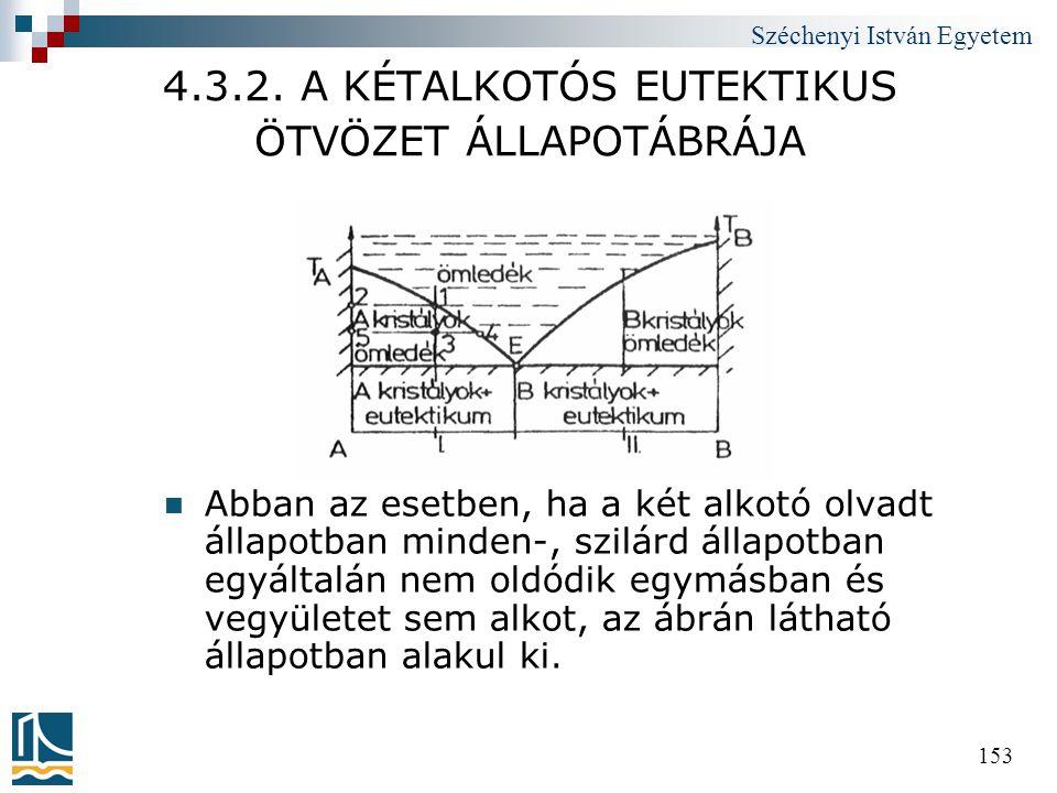 4.3.2. A KÉTALKOTÓS EUTEKTIKUS ÖTVÖZET ÁLLAPOTÁBRÁJA