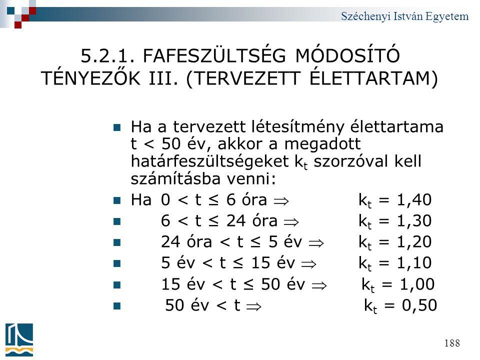 5.2.1. FAFESZÜLTSÉG MÓDOSÍTÓ TÉNYEZŐK III. (TERVEZETT ÉLETTARTAM)