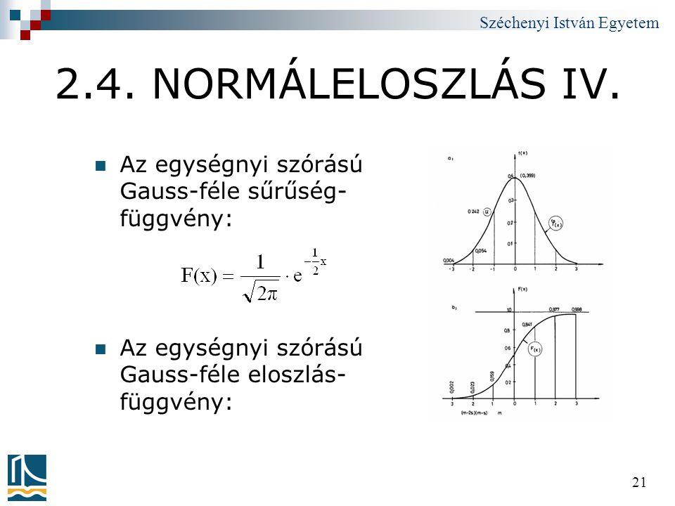 2.4. NORMÁLELOSZLÁS IV.
