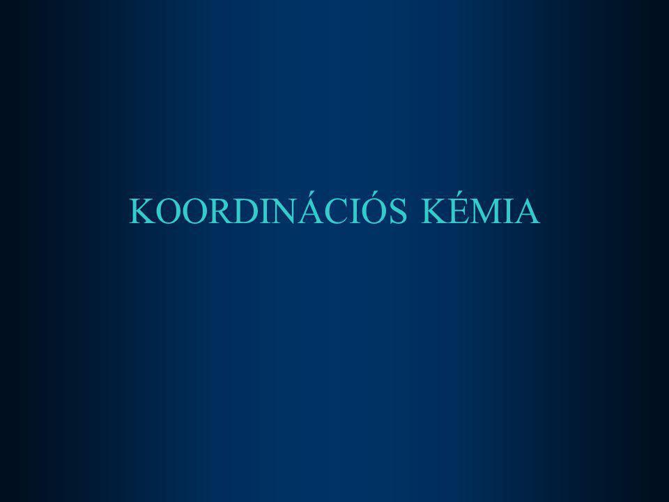 2017.04.04. KOORDINÁCIÓS KÉMIA