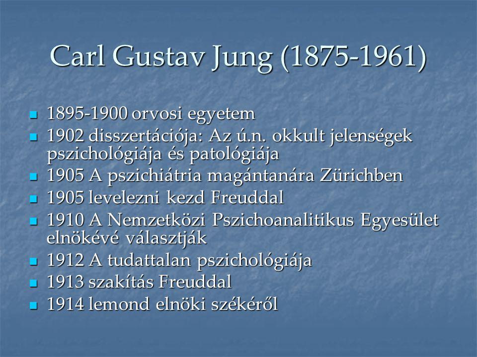 Carl Gustav Jung (1875-1961) 1895-1900 orvosi egyetem
