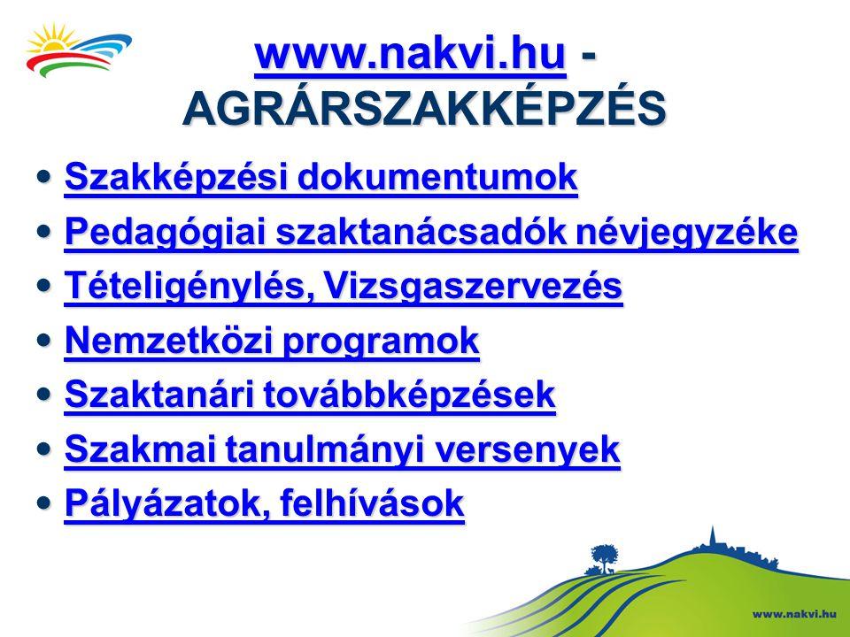www.nakvi.hu - AGRÁRSZAKKÉPZÉS