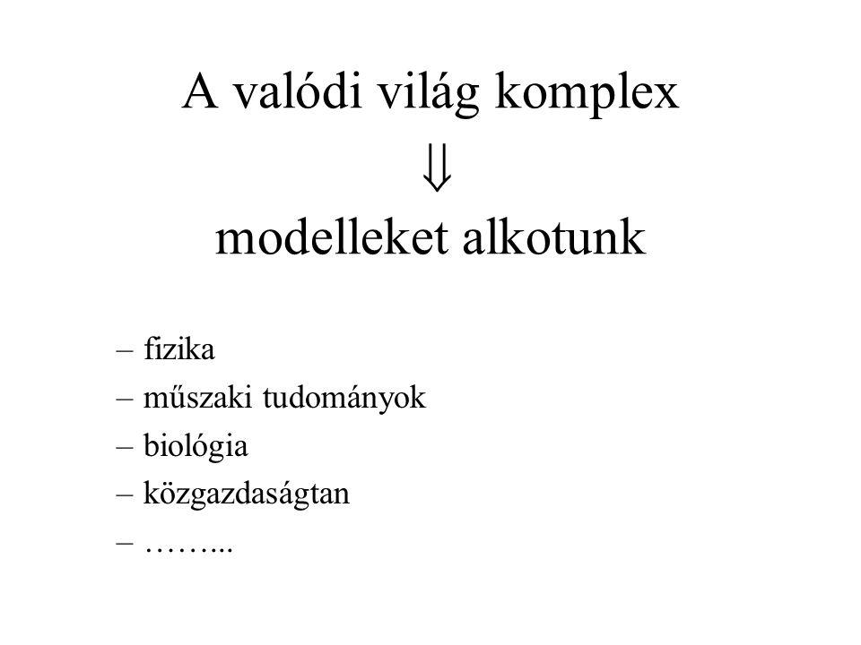 A valódi világ komplex  modelleket alkotunk
