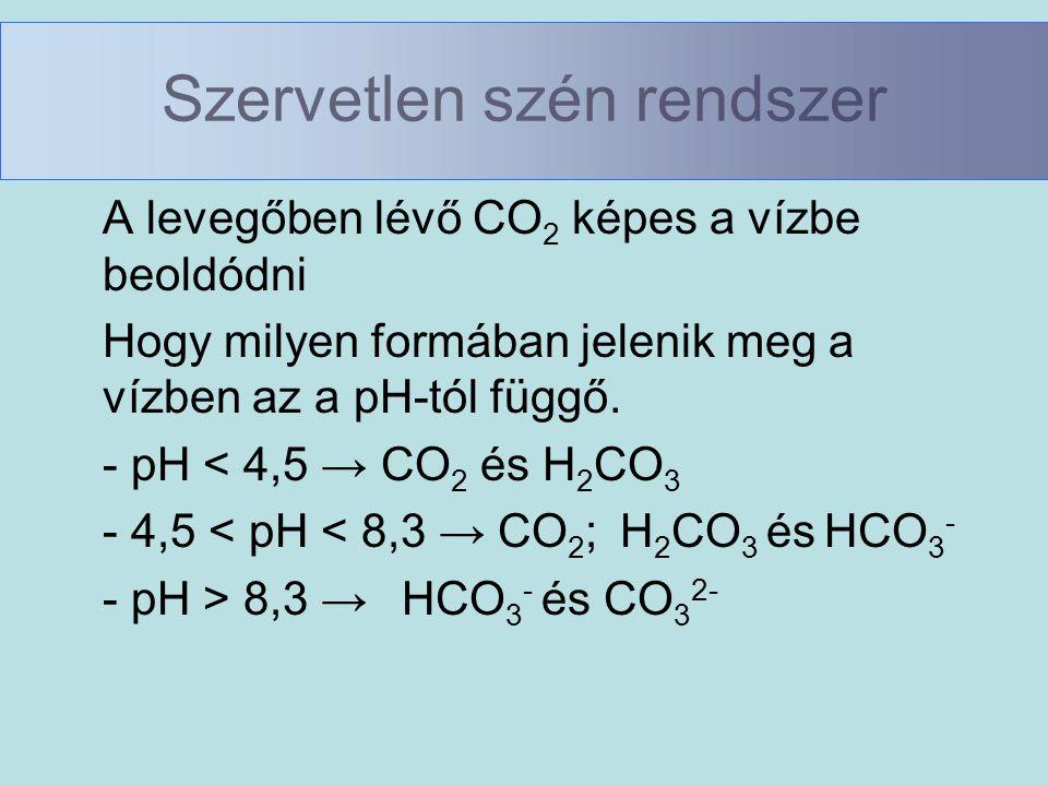 Szervetlen szén rendszer