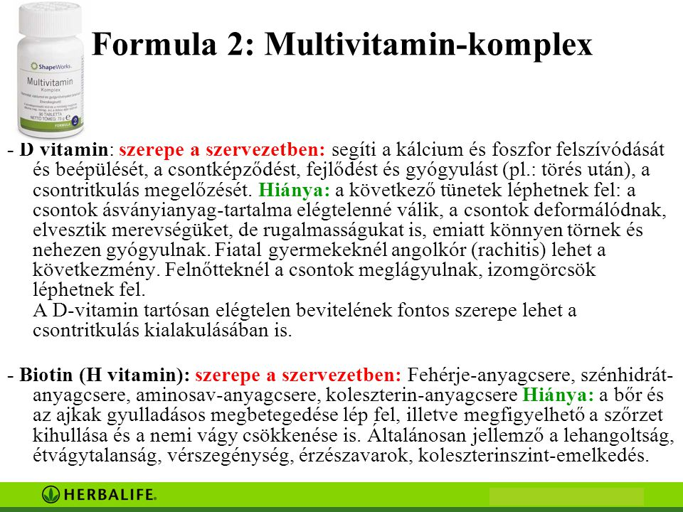Formula 2: Multivitamin-komplex