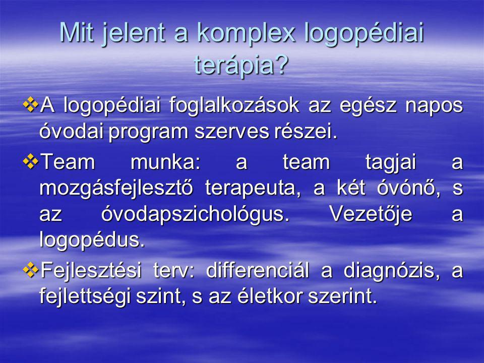 Mit jelent a komplex logopédiai terápia